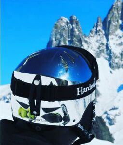 HardnutZ Chrome Ski Helmet Snowboard Silver Adult Mens Ladies Kids RRP £74.99