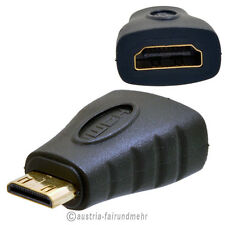"""Adapter HDMI-A Buchse auf HDMI-C Stecker Mini vergoldete Kontakte Full HD"
