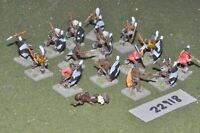 25mm 19th century / zulus - warriors 16 figures - inf (22918)