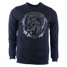 DIESEL PROTOTIPI SWEAT Mens Sweatshirt Black Crew Neck Slim Fit Pullover Jumper