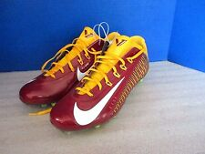 NIKE CARBON 2.0 FLYWIRE FOOTBALL CLEATS~Red & Gold SAN FRANCISCO 49ers~Mens 13.5