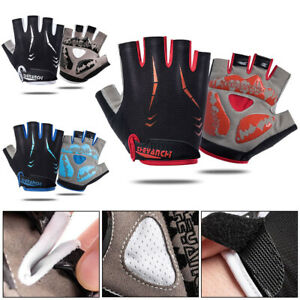 Half Finger Cycling Gloves Bike Shock Absorption Bicycle Non-slip Motorcycle