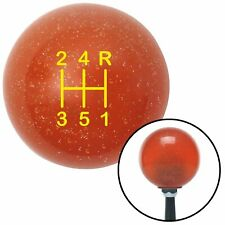 Yellow Shift Pattern 47n Orange Metal Flake Shift Knob with M16x1.5 insert apu