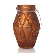 Vintage Copper Glass Home Ornament Tealight Candle Holder Hanging Table Lantern