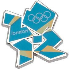 Olympics London 2012 Blue & Yellow Logo Pin - New and Sealed