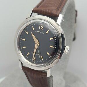 Vintage Hamilton 661 Men's automatic watch 17Jewels Black dial swiss 1950s