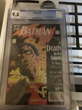 Batman #428 CGC 9.8 Newsstand Edition  White Pages Death of 2nd Robin Jason Todd