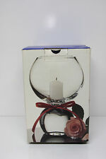 "Heavy Clear Glass Candle Holder or Vase - 8"" Tall - by Studio Nova Profile - NEW"