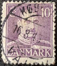 Stamp Denmark 1942 10o King Christian X Used