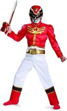 Boy Power Ranger Megaforce Muscle Costume Red Jumpsuit Mask Childs Medium 7 8
