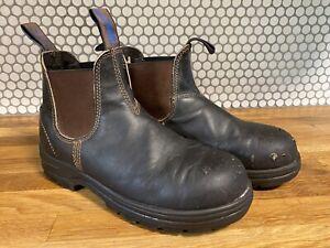 Blundstone boots- AU 6/US 9 brown steel toe