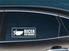 Ricer on Board Funny Bumper Window Vinyl Decal JDM Stickers Eclipse Civic RSX EF