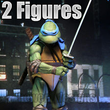 2 x NECA Teenage Mutant Ninja Turtles 1990 Movie LEONARDO 1/4 Action Figure TMNT