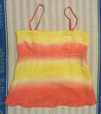 Rot/gelbes Top - Reine Seide - H & M - Gr. 42