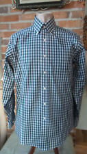 Mens Shirt Eagle Shirtmakers Long Sleeved Plaid Greens Size 15 1/2  34/35