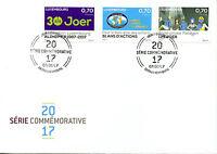 Luxembourg 2017 FDC Alzheimer 51 International Fieldgen Schools 3v Cover Stamps