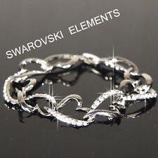 Bridesmaid White Gold Filled Bracelet made with Swarovski Crystal Gift b208