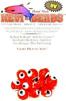 Hevi-Beads 10mm UV Fish Eye Orange - Salmon Trout Steelhead Spin Fly Bait Fly