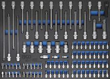 Module de servante d'atelier - embouts + douilles à embouts 1/4-1/2 104 pièces