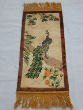 ANTIQUE ART DECO CHINESE HAND MADE RUG 96X47cm (R337)