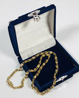 Vintage Gold Tone Necklace Collar Length Chain Barrel Clasp Dainty Pretty Kitsch