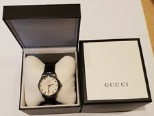 Gucci Gents G-Timeless Automatic Stainless Steel Silver Dial Watch YA126468