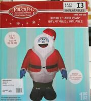 Gemmy 3.5 ft. Height Pre-Lit LED Inflatable Rudolph Bumble in Santa Suit