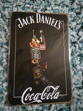BR NW Jack Daniel's & Coca Cola (2) Metal Sign -UK Seller Free p&p