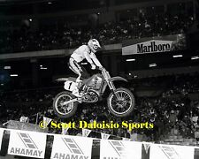 1989 RICK JOHNSON ANAHEIM AMA SUPERCROSS 8 X 10 PHOTO   MOTOCROSS