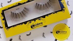 Eldora False Eyelashes H137 Human Hair Strip Lashes