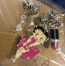 NEW! EUROPEAN BETTY BOOP MOM CHARM BEAD SET LOT FF5942 + free BOX SEE PICTURES