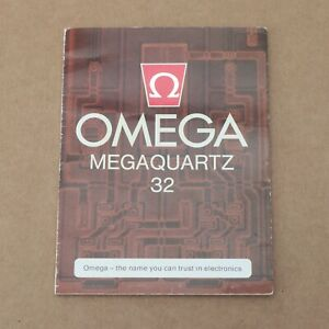 Omega Megaquartz 32 Cal:1310 Booklet Pre-Owned Nice Collectors Condition