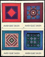 20 AMISH QUILT STAMPS Double Nine Patch Diamond Square Sunshine Shadow Lone Star