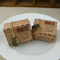 50×Travel Suitcase Candy Box with Compass Wedding Favor Guest Souvenir Gift
