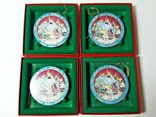 P Buckley Moss Lot of 4 Eight Maids 12 Days Christmas Ornaments Anna Perenna