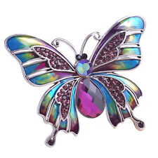 Lot Wedding Broach Insect X7T5 Vintage Jewelry Large Enamel Butterfly Corsage