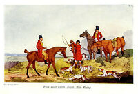 Artist Henry Alken Original Print Fox Hunting - Death Who Whoop 1903