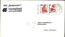 Schiffsstempel Schiffspost Hapag Lloyd Schiff MS BADENSTEIN Shipletter Brief `74