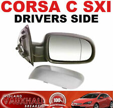CORSA C 00-06 DRIVERS SIDE ELECTRIC PRIMED WING DOOR MIRROR NEW SXI DESIGN LIFE