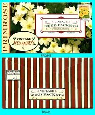 Primrose - Vintage Seed Packets  First Day Cover with Color Cancel