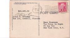 Postcard TV Gameshow The Price Is Right Entry Card Miami Rare Birds Farm  1957