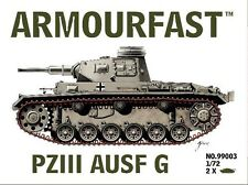 Armourfast 99003 1/72 WWII German Panzer III G Tanks (2 Models)