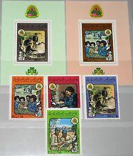 LIBYIA LIBYEN 1980 829-32 Block 46-47 861-866 Girl Guides Pfadfinderinnen MNH