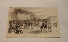 1879 magazine engraving ~ Parading The Horses Before The Start
