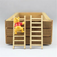 8X Dollhouse Miniature Fairy Garden Wood Step Ladder HomeFurniture Decoration WL