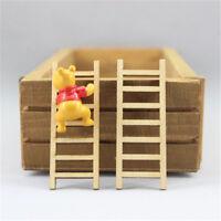 8X Dollhouse Miniature Fairy Garden Wood Step Ladder HomeFurniture Decoration WL