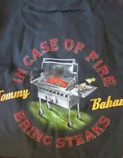 TOMMY BAHAMA TEE SHIRT RELAX SMALL Black In Case Of Fire Bring Steaks