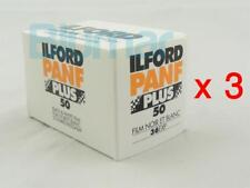 3x rolls ILFORD PANF 50 PLUS ,ISO 50 ,B&W NEGATIVE Film 35mm FRESH