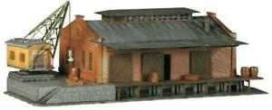 Faller 222180 Spur N Güterhalle mit Ladekran #NEU in OVP##