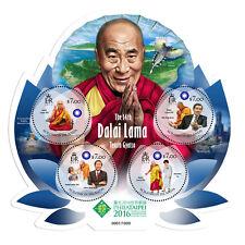 Islas Salomón 2016 estampillada sin montar o nunca montada Dalai Lama Tenzin Gyatso philataipei 4v m/s Sellos